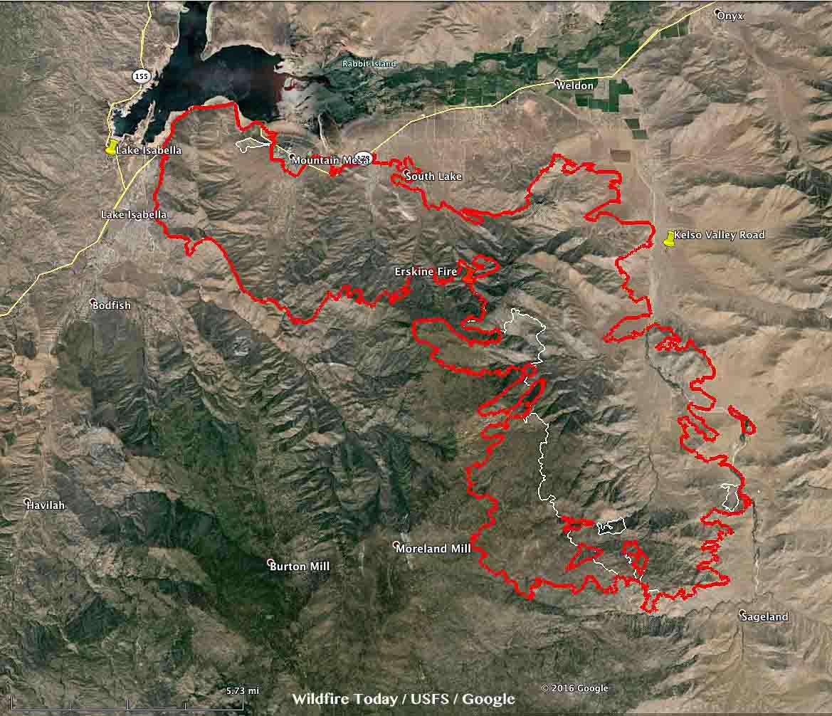 Map Erskine Fire