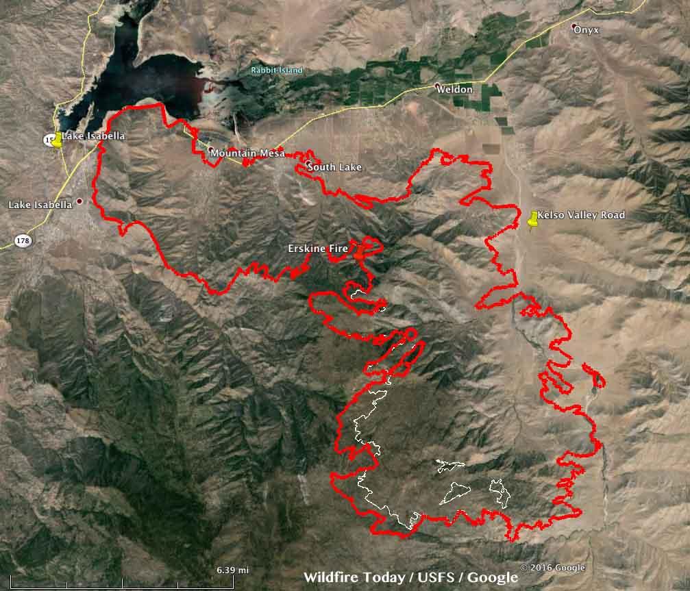 Map Erskine Fire at 1130m MDT June 26, 2016