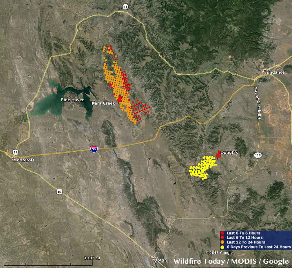 map Kara Creek Fire