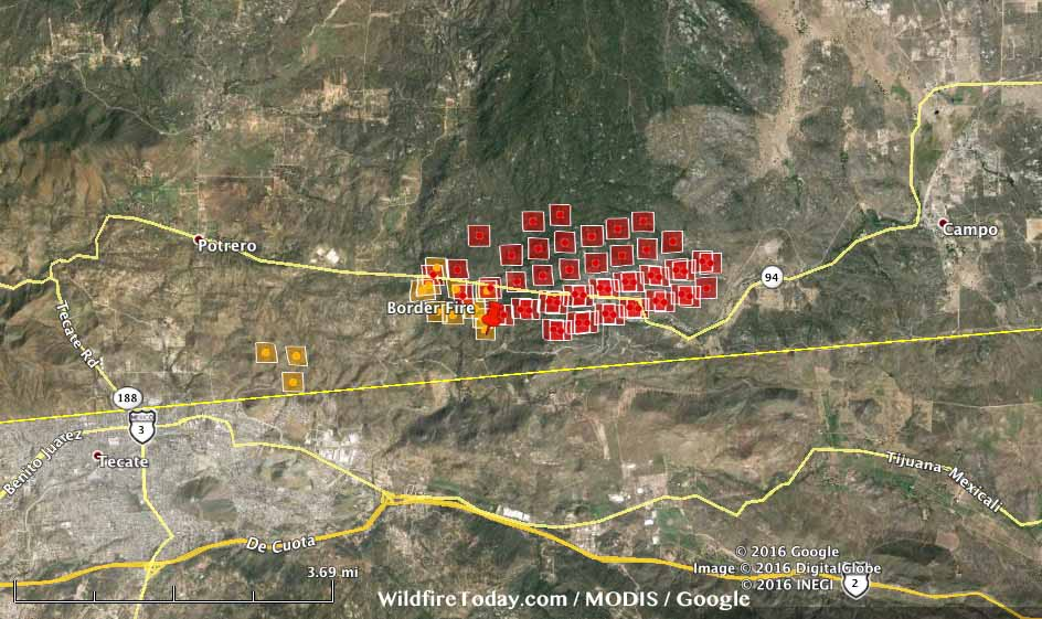 california border fire forces evacuation of additional areas