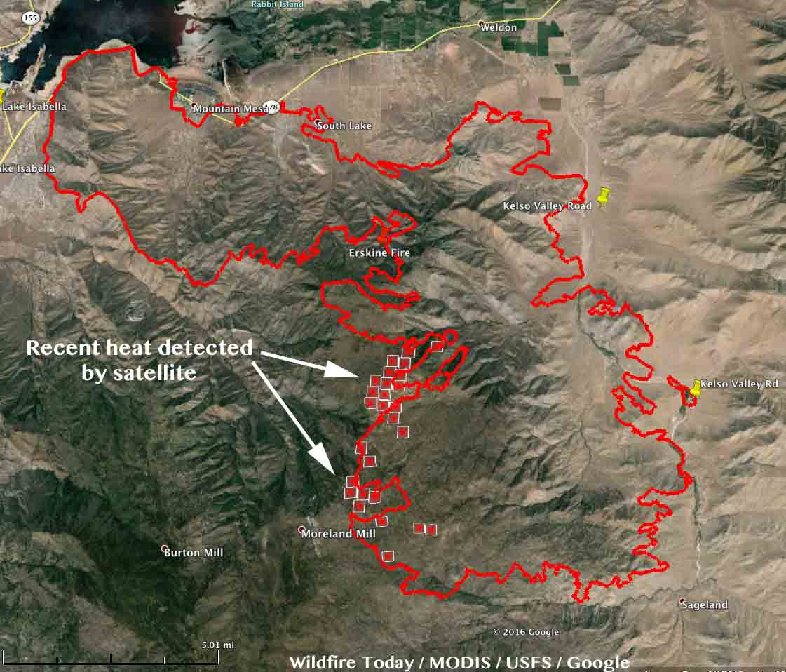 Map of the Erskine Fire