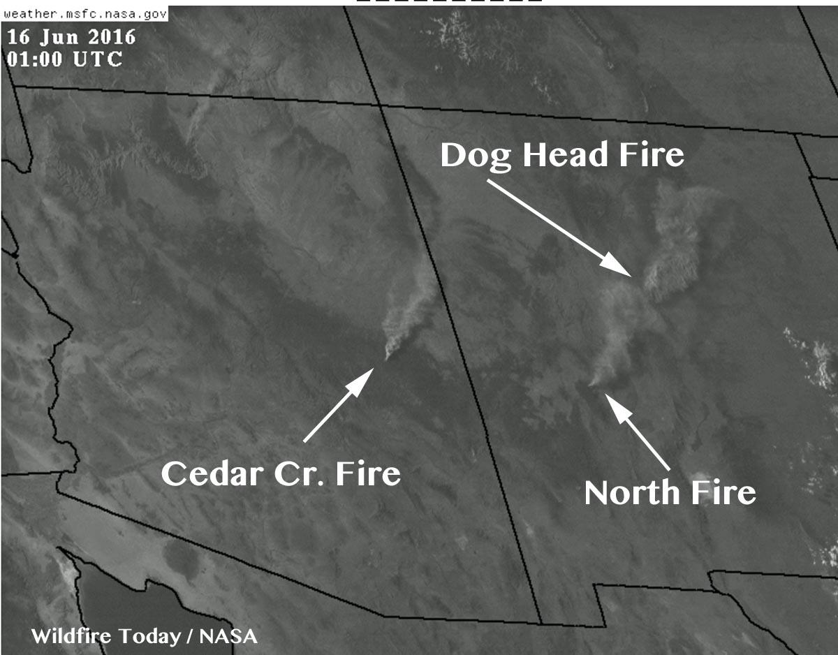 NM AZ fires 7 pm MDT 6 15 2016   Wildfire Today