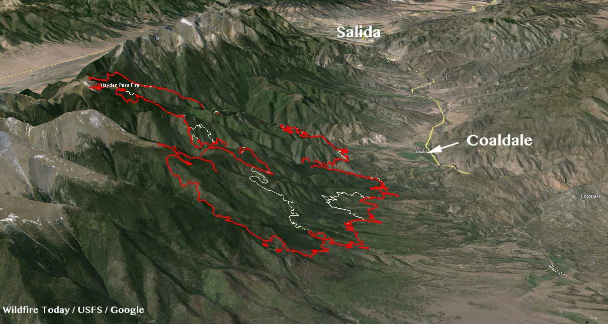 3-D Map Hayden Pass Fire