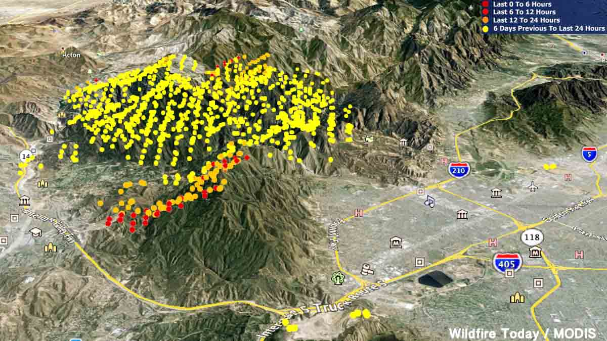 sand fire to be declared local emergency for la county  - d map sand fire
