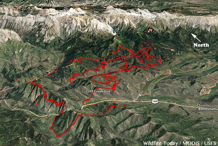 map Cliff Creek Fire