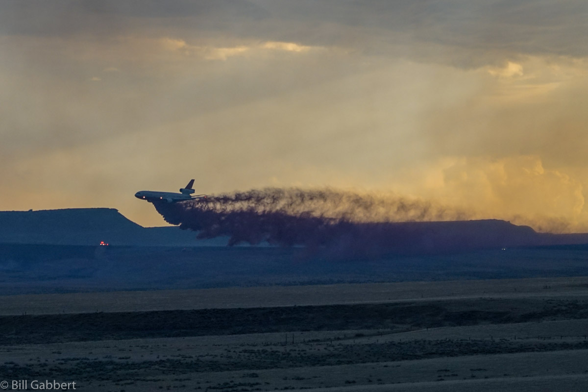 DC-10 air tanker Indian Canyon Fire