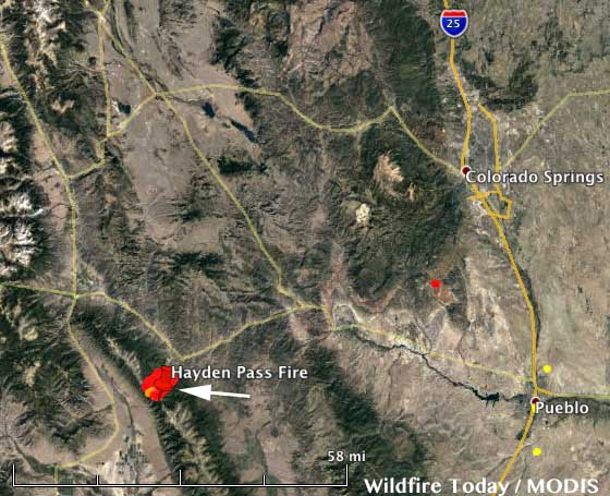 Colorado Hayden Pass Fire Causes Evacuations South Of