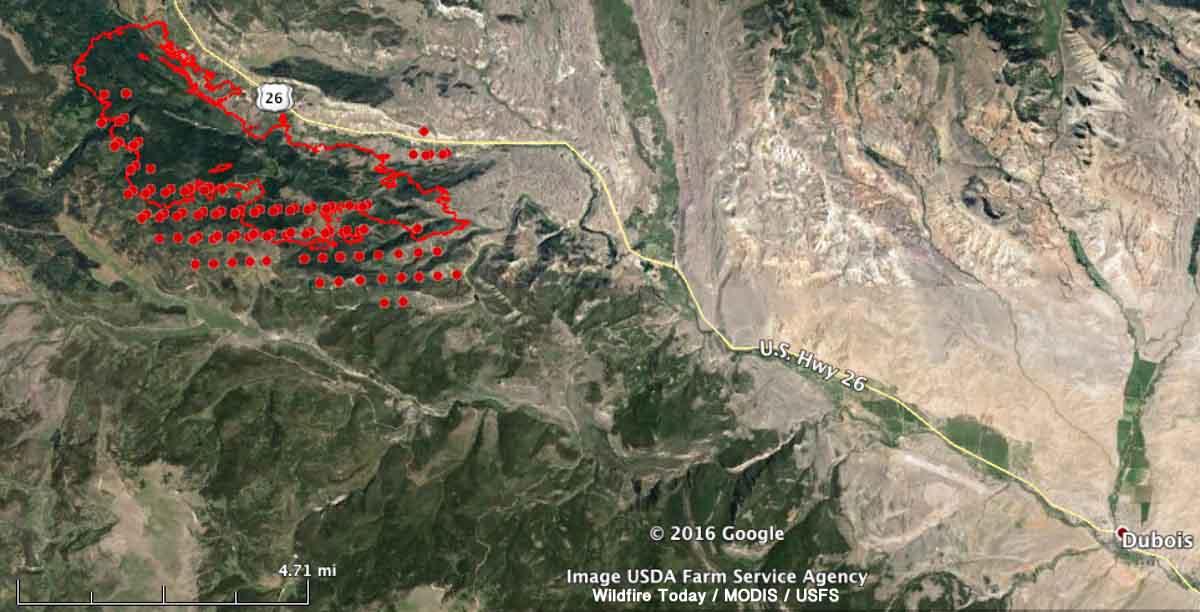 map Lava Mountain Fire
