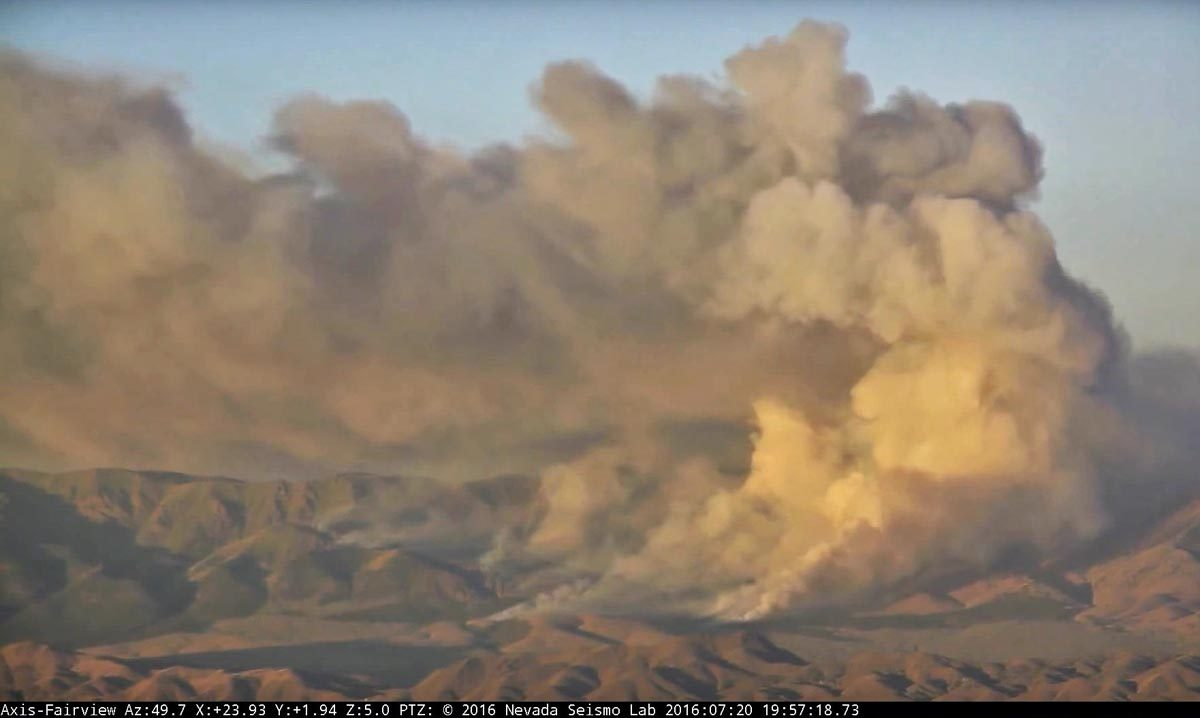 Laboratory camera captures photos of Little Den Fire in Nevada