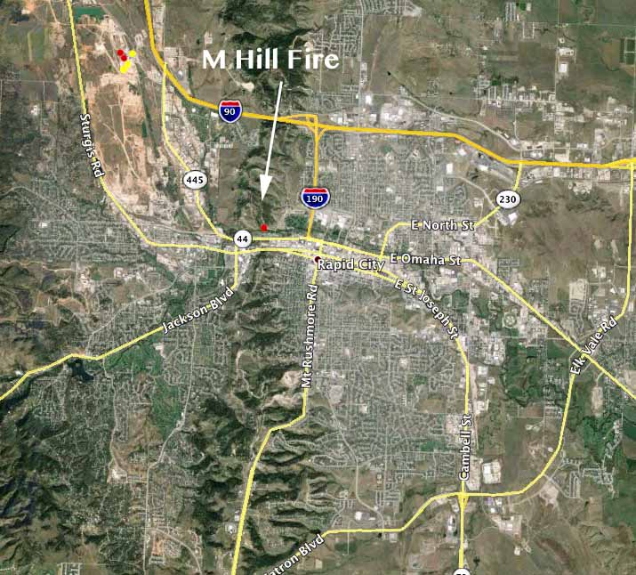 M Hill Fire Vicinity Map Wildfire Today
