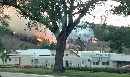 M Hill Fire