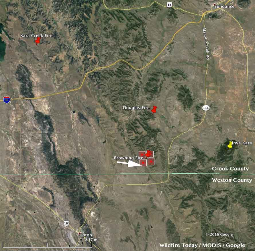 Map Browning Fire