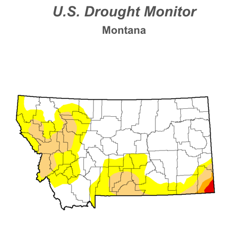 U.S. Drought Monitor, Montana