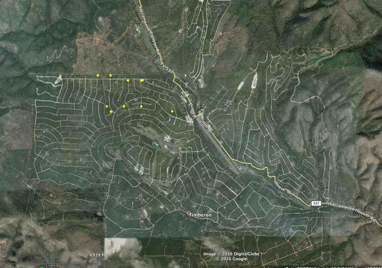 map Timberon Fire