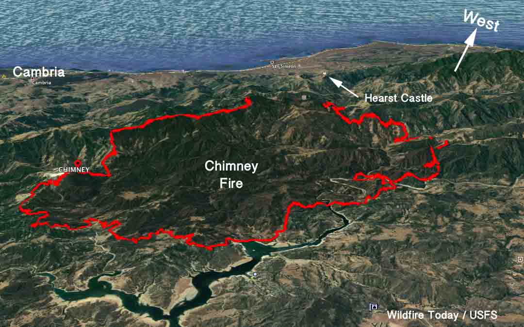 Chimney Fire spreads into Monterey County