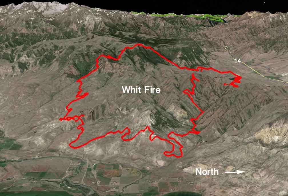 3-D map Whit Fire