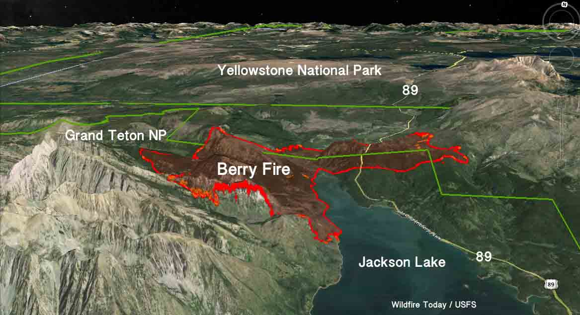 3-D map of the Berry Fire