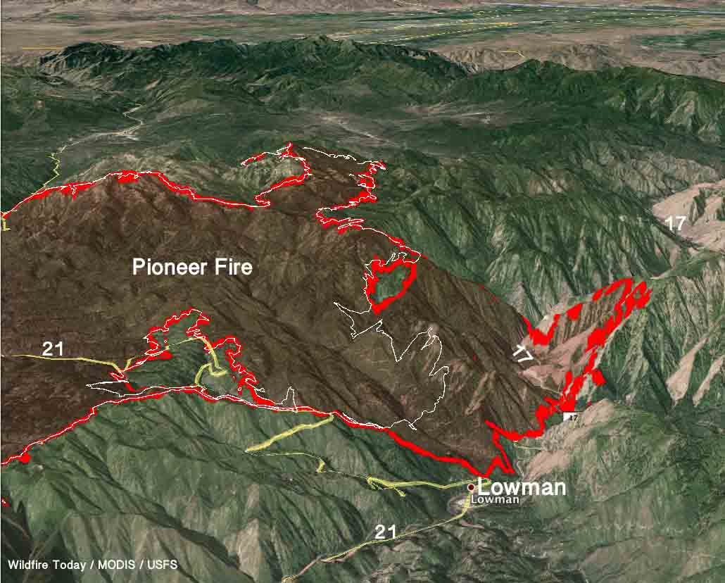 Pioneer Fire Wildfire Today - Us forest service east tn wiildfires map