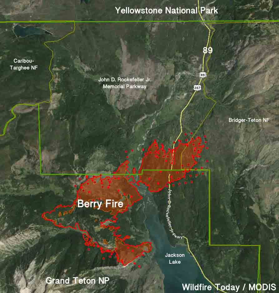 Berry Fire map