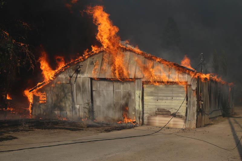 Clayton fire