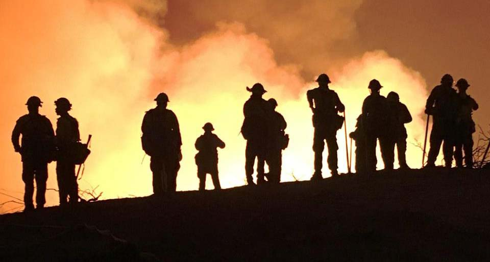 Firefighters on the Soberanes Fire