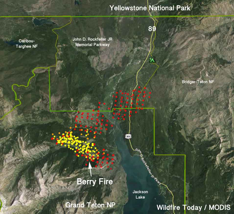 Map Berry Fire 431 Am Mdt August 23 2016 Wildfire Today