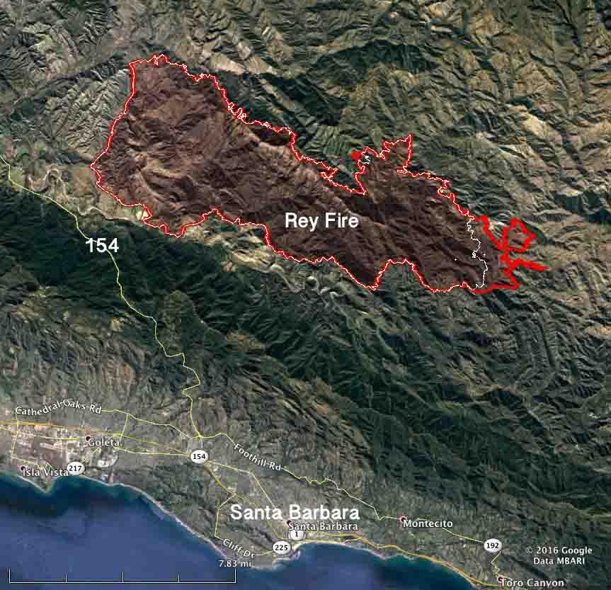 Map Rey Fire