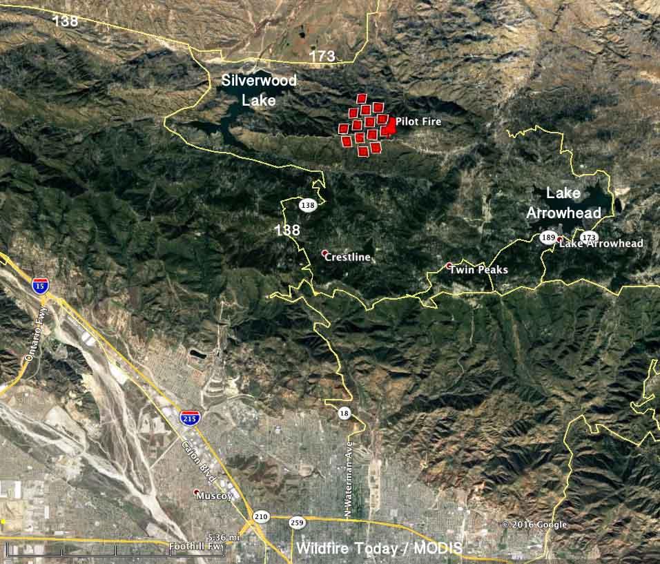 Pilot Fire Burning Near Miller Canyon Arrowhead Trails In Sbnf