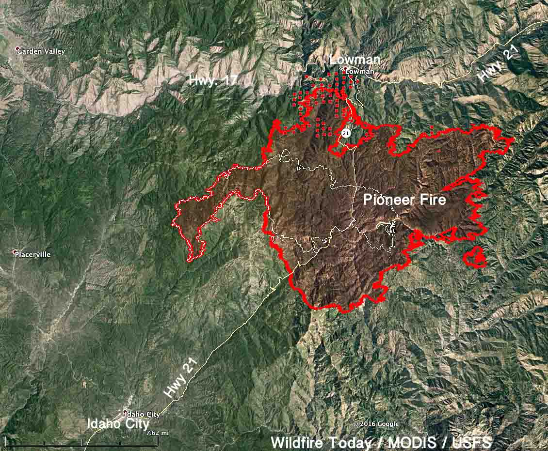 Pioneer Fire 3 pm MDT August 5, 2016   Wildfire Today