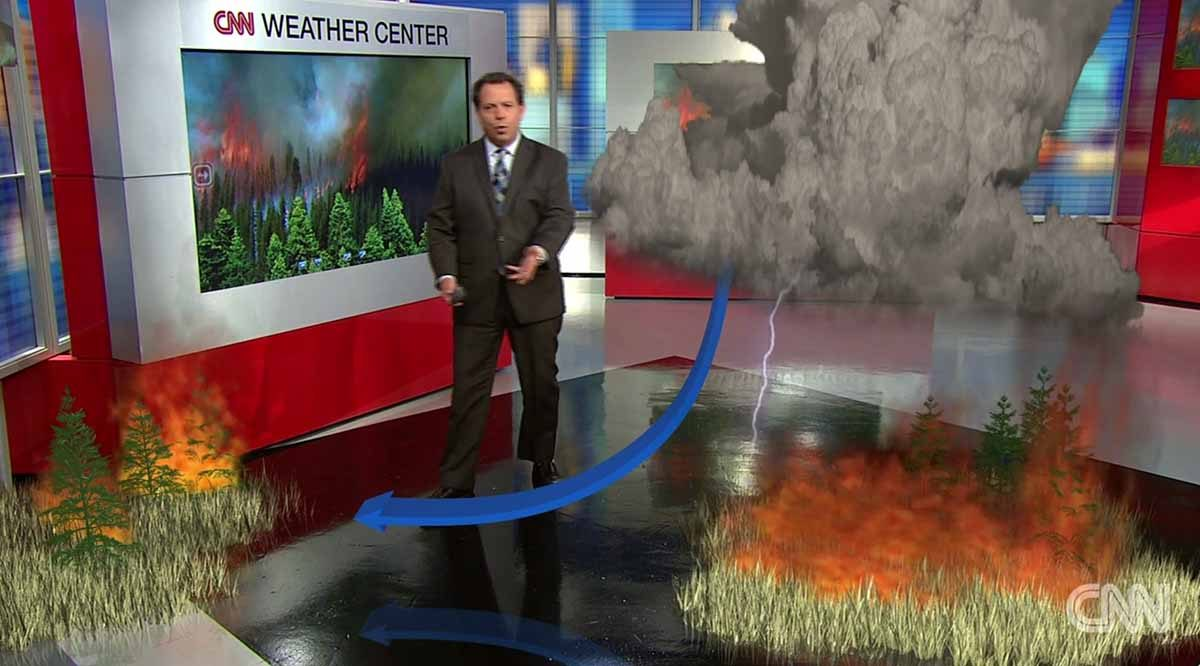Where does the moisture in a pyrocumulus cloud come from?