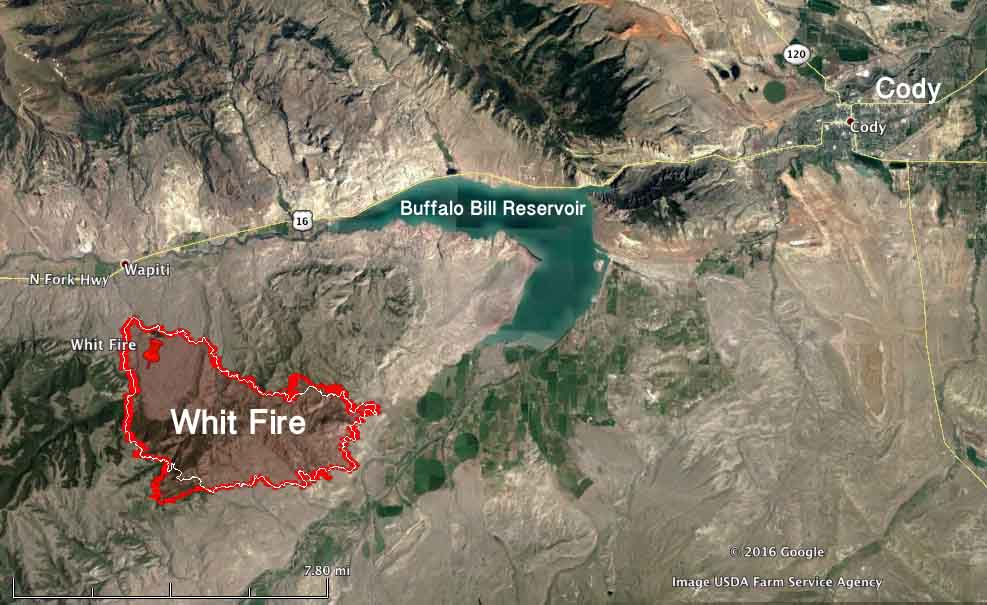 Whit Fire map 230 am MDT August 5, 2016   Wildfire Today