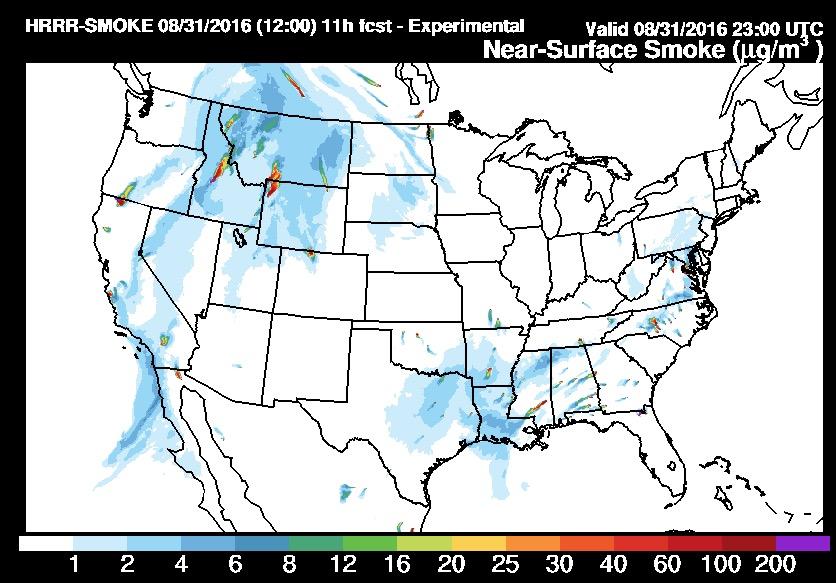 wildfire  smoke forecast