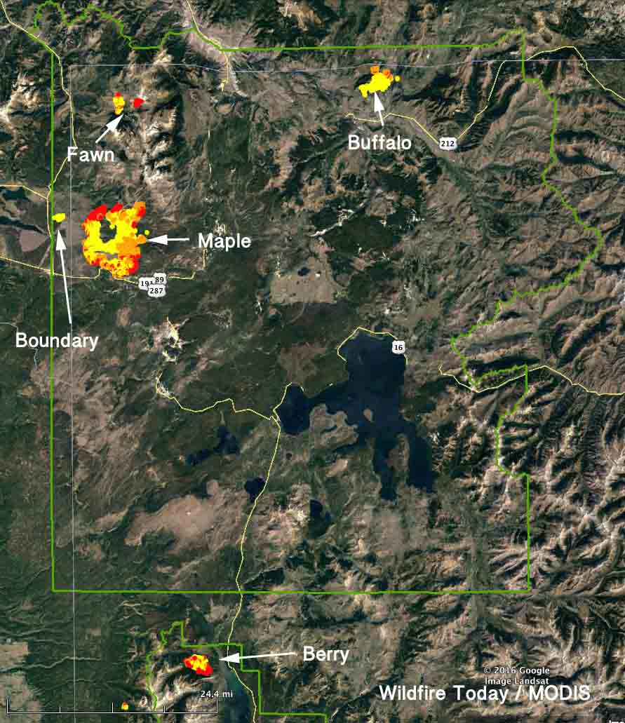 map yellowstone fires grand teton national park