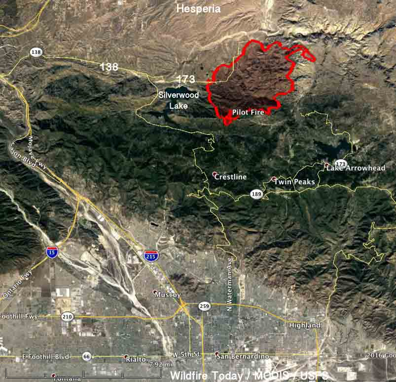 Map of the Pilot Fire