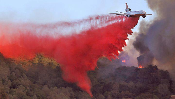 DC-10 drop sawmill fire