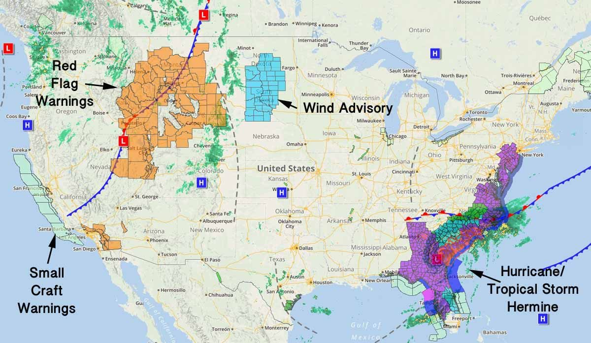 Fire weather Sept 2, 2016