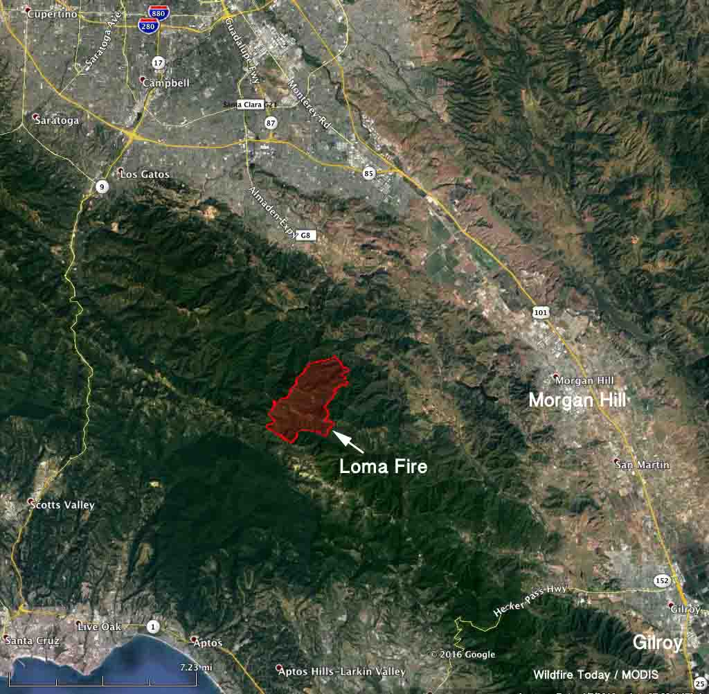 Loma Fire causes evacuations south of San Jose, Calif ... Bear Creek Road Santa Cruz Map on barstow road map, kapaa road map, seaside road map, red rock canyon road map, temecula road map, occidental road map, bloomington road map, sebastopol road map, oakland road map, las marias road map, simi valley road map, cupertino road map, pleasant hill road map, florin road map, white sands missile range road map, napa county road map, manzini road map, oceanside road map, vacaville road map, san fernando road map,
