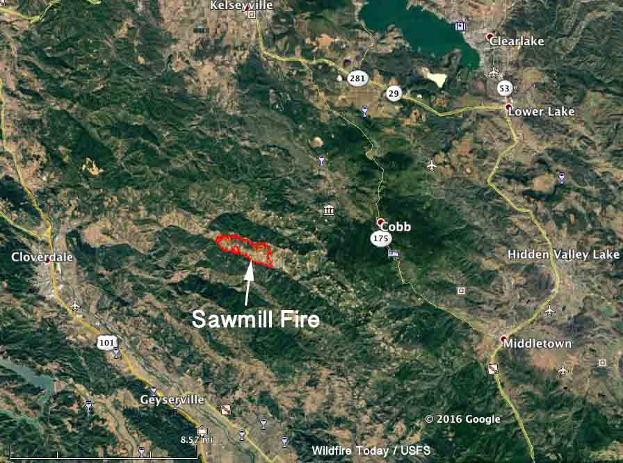 sonoma fire map