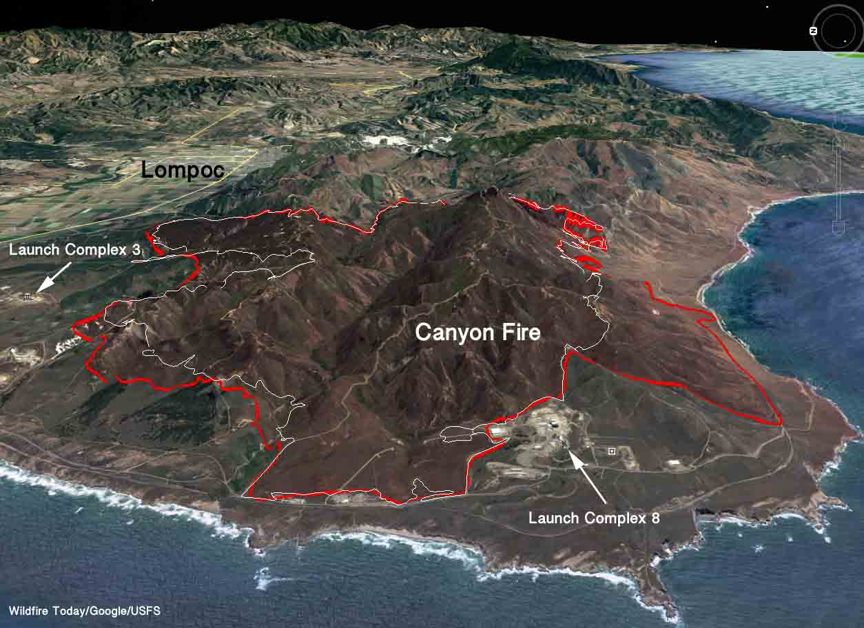 3-D map Canyon Fire