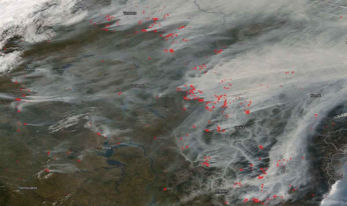 Millions of acres burning in Siberia