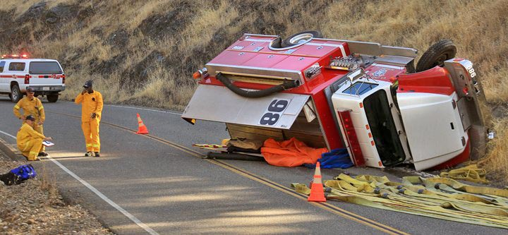 water tender rollover