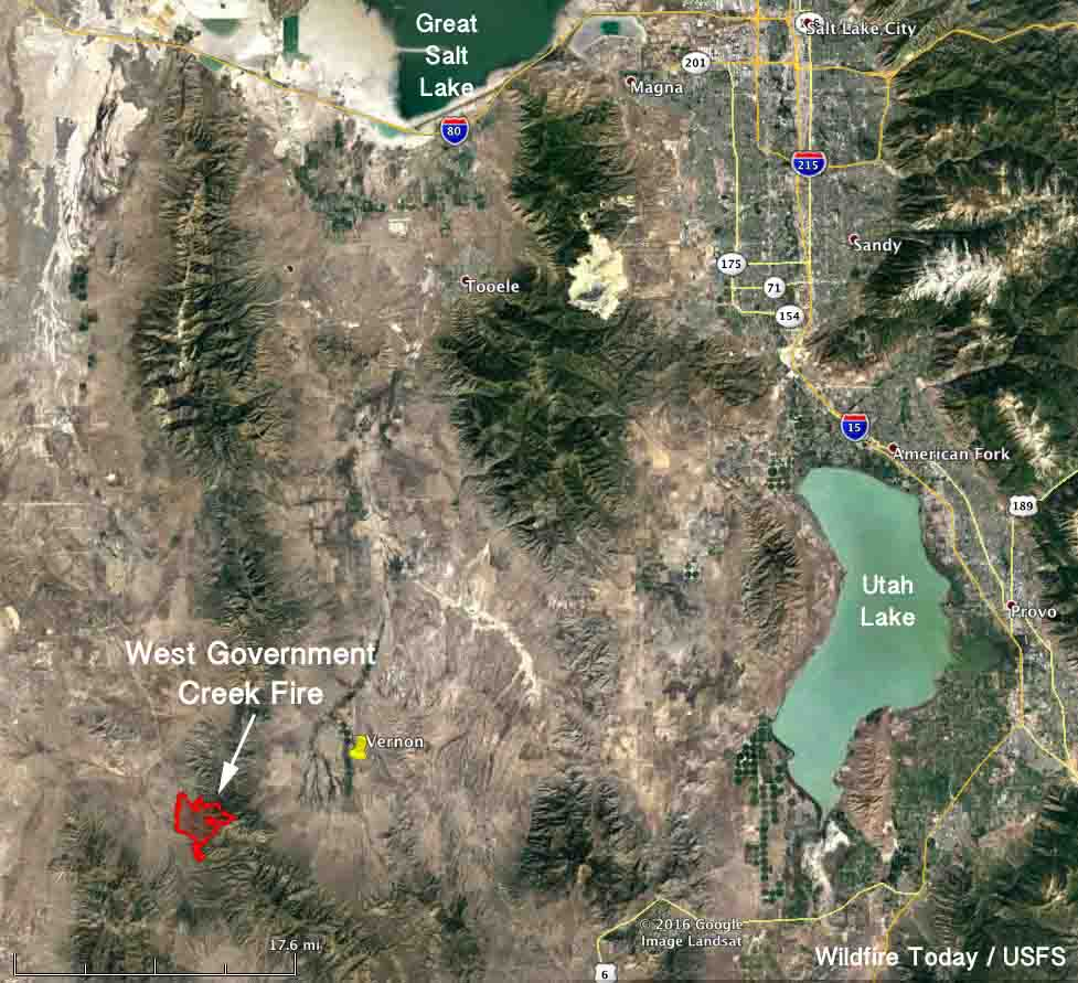 West Government Creek Fire West Of Vernon Utah  Wildfire