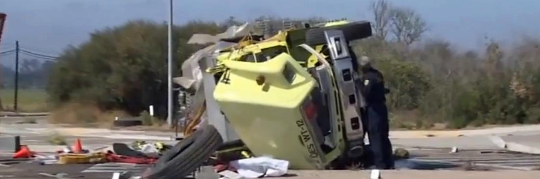 Water tender rollover kills Ventura County fighter