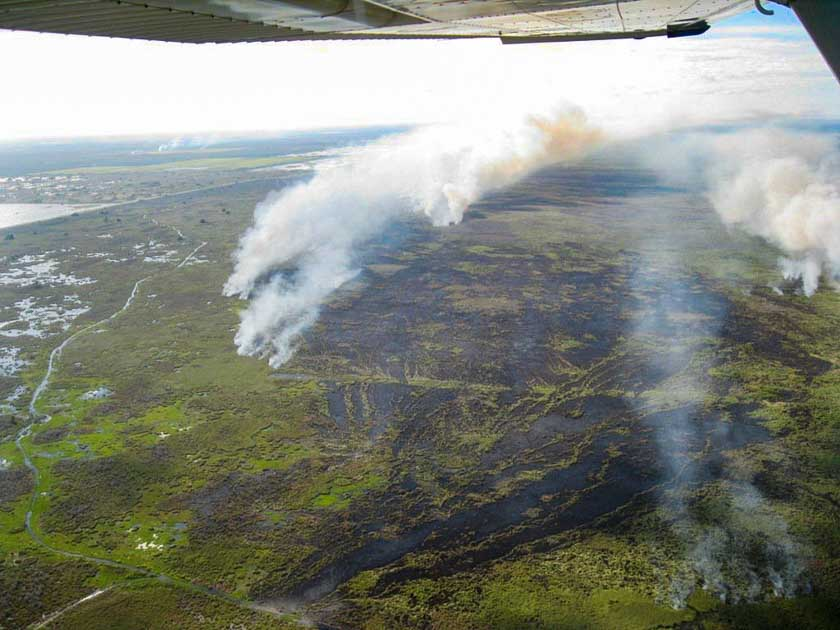 Fire in Indian River County, Florida