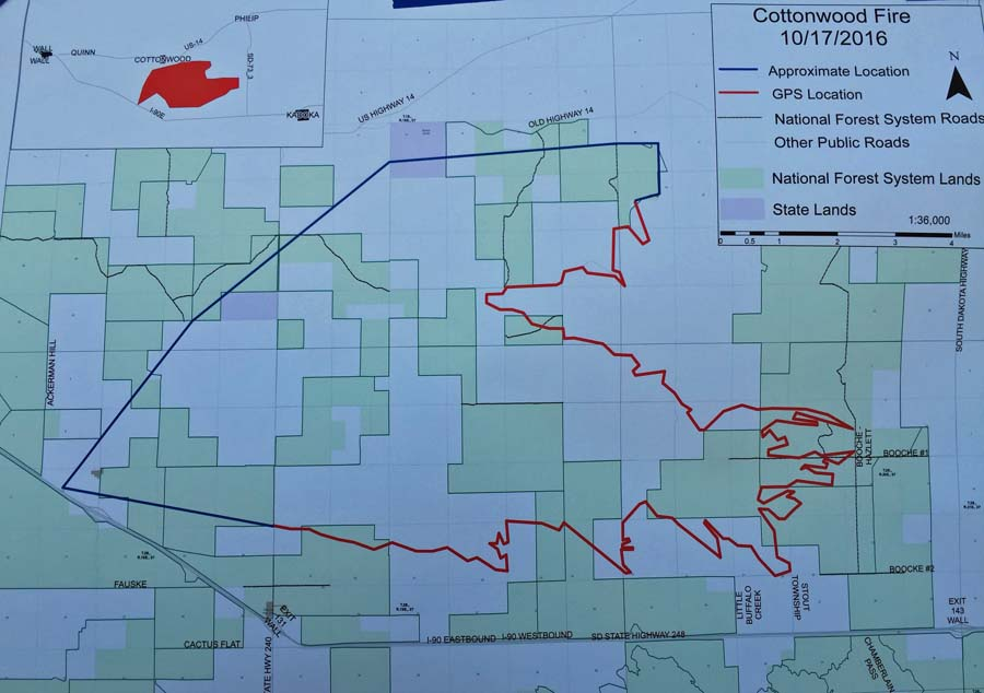 map cottonwood fire