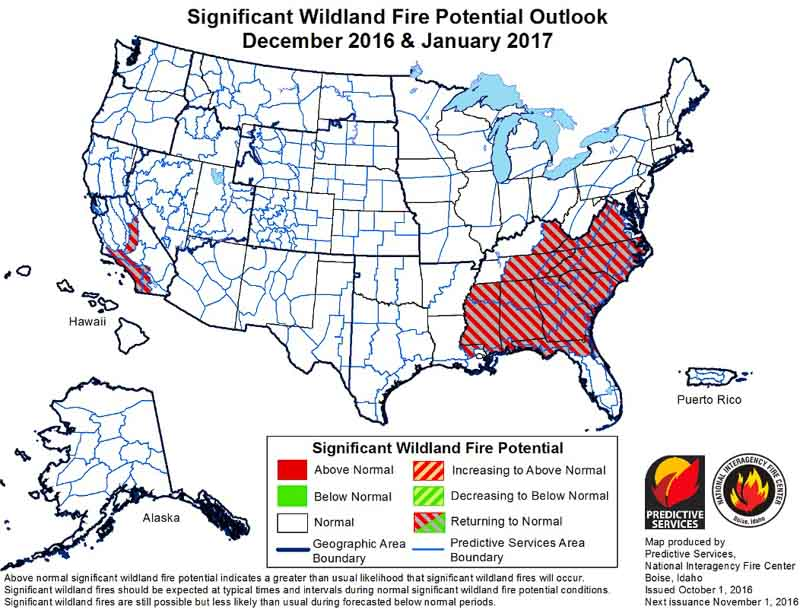 wildfire potential