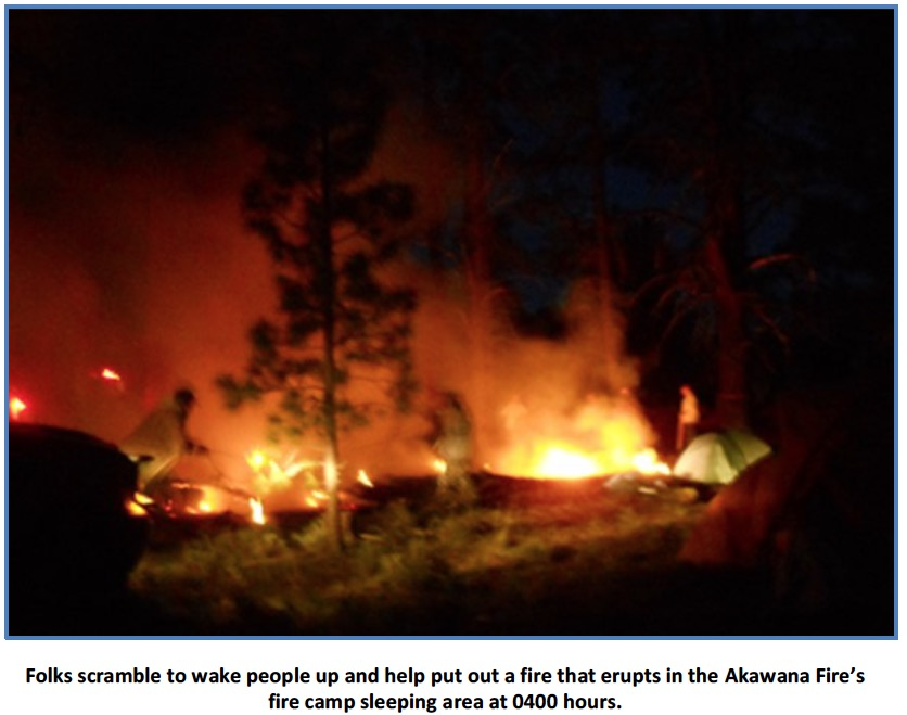 tent fire & Fire in sleeping area destroys three firefighteru0027s tents damages ...