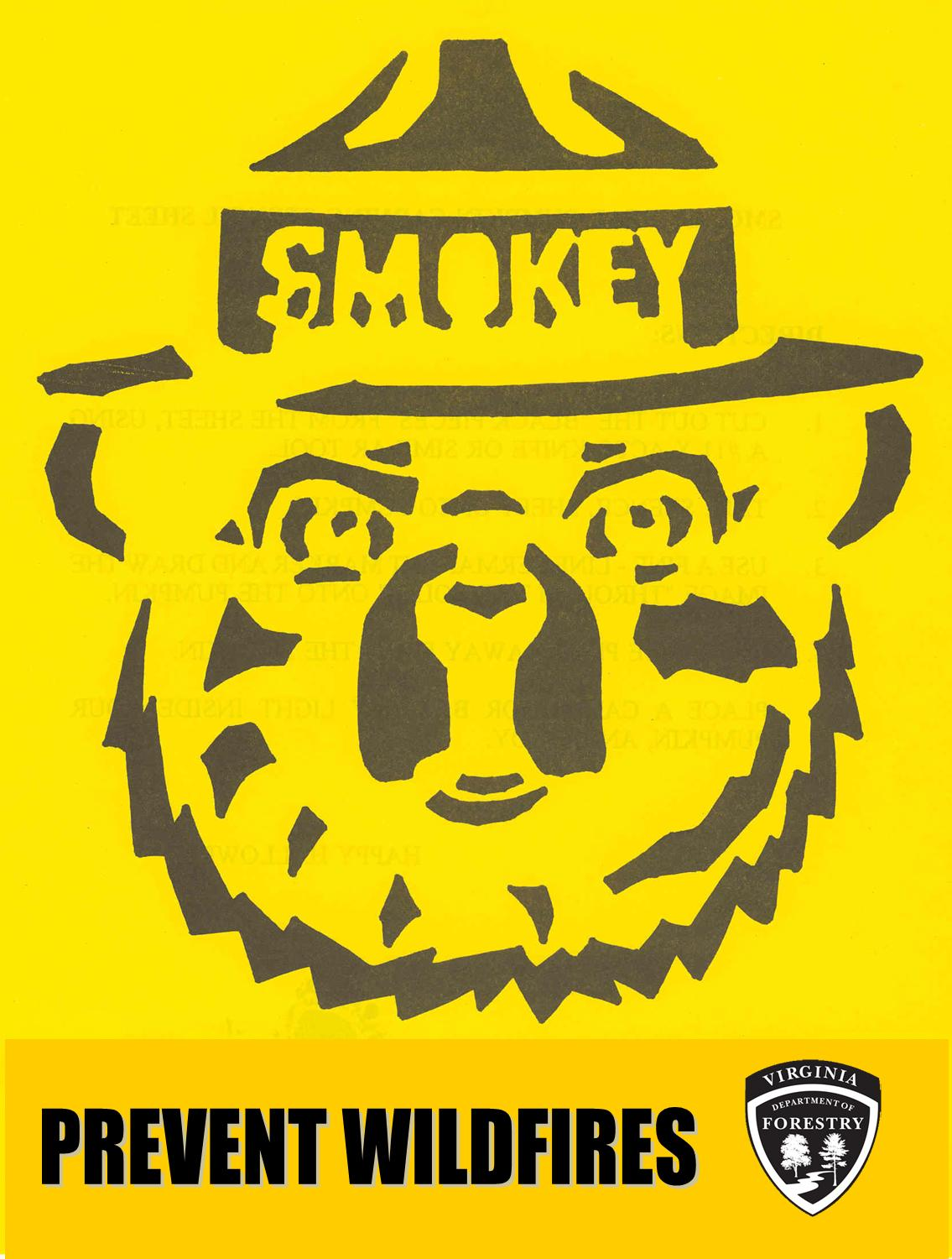 Create A Smokey Bear Jack Olantern Wildfire Today