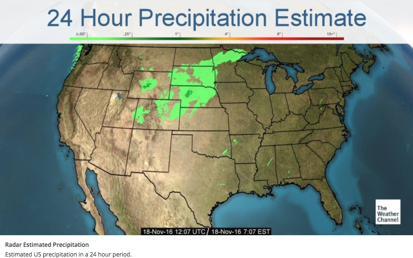 24 hour precipitation
