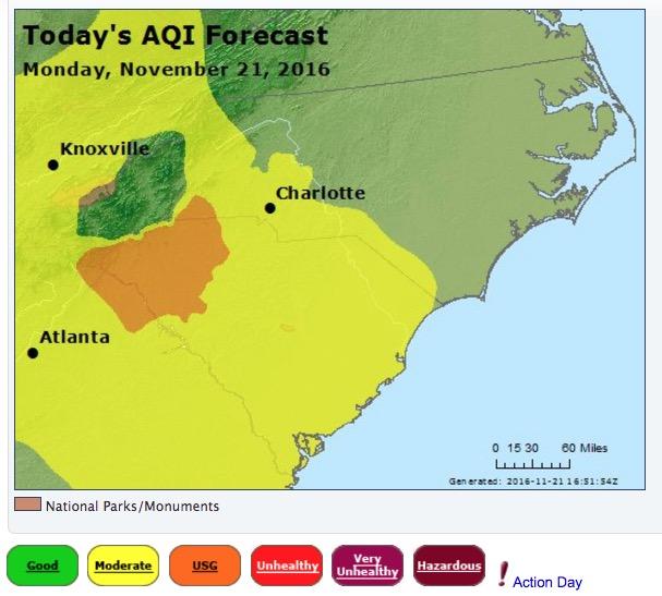 Air Quality Index prediction